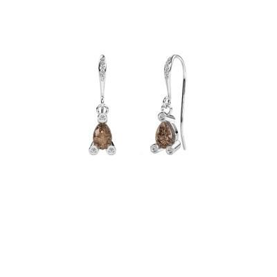 Oorhangers Bunny 2 950 platina bruine diamant 1.375 crt