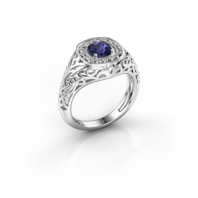 Men's ring Quinten 925 silver sapphire 5 mm