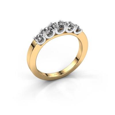 Foto van Verlovingsring Selina 2 585 goud zirkonia 3.7 mm