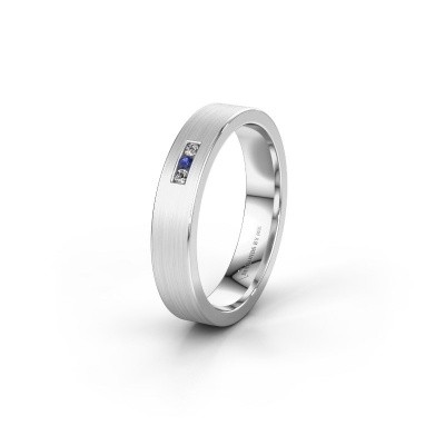 Wedding ring WH0106L14AM 925 silver sapphire ±0.16x0.07 in
