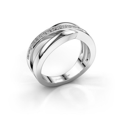 Foto van Ring Colette 585 witgoud zirkonia 1.3 mm