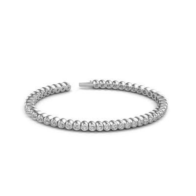 Tennisarmband Patrica 585 witgoud diamant 2.75 crt