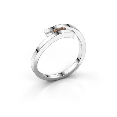 Ring Juliette 925 silver brown diamond 0.042 crt