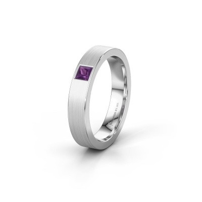 Picture of Friendship ring WH0101L14BMSQ 585 white gold amethyst ±0.16x0.08 in