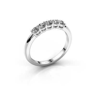 Photo de Bague de fiançailles Michelle 5 585 or blanc diamant synthétique 0.40 crt