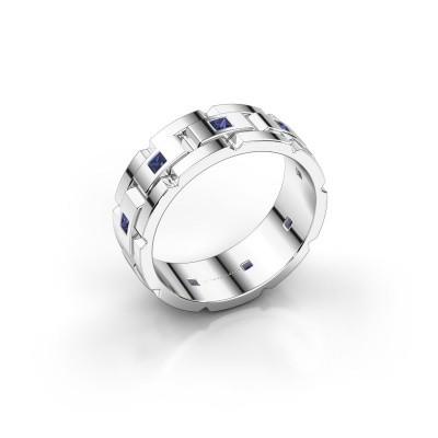 Foto van Rolex stijl ring Ricardo 585 witgoud saffier 2 mm