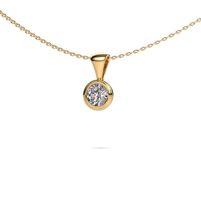 Foto van Ketting Lieke 375 goud diamant 0.40 crt