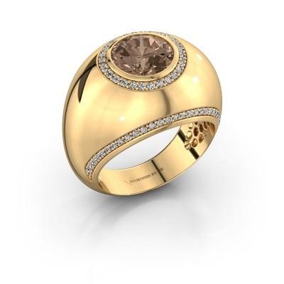 Ring Roxann 375 goud bruine diamant 2.41 crt