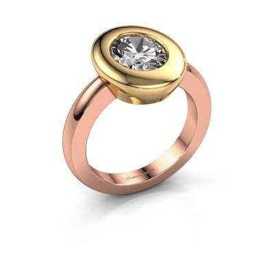 Foto van Ring Selene 1 585 rosé goud diamant 1.80 crt