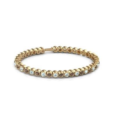 Foto van Tennisarmband Mellisa 375 goud rookkwarts 3.5 mm