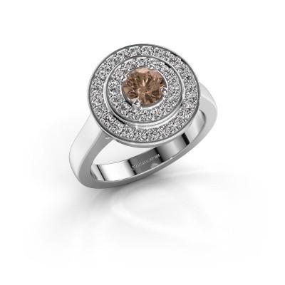 Foto van Ring Alecia 1 950 platina bruine diamant 0.60 crt