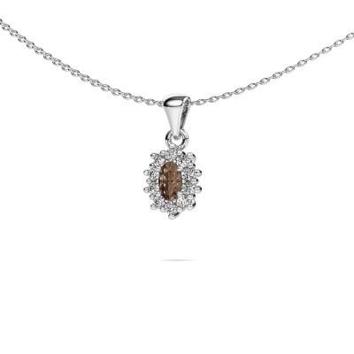 Foto van Ketting Leesa 585 witgoud bruine diamant 0.70 crt