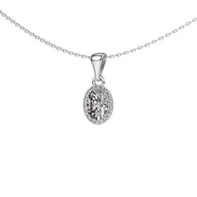 Hanger Seline ovl 585 witgoud lab-grown diamant 0.800 crt
