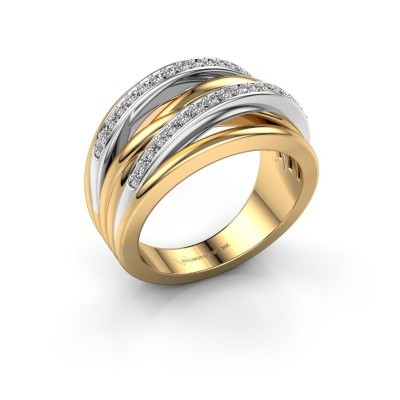 Photo de Bague Annabel 2 585 or jaune diamant 0.24 crt