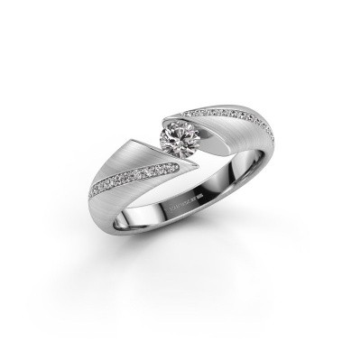 Verlovingsring Hojalien 2 950 platina diamant 0.37 crt