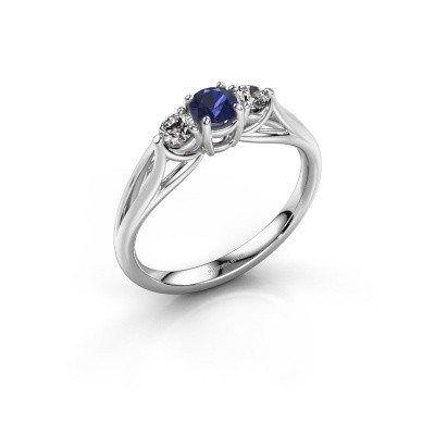 Picture of Engagement ring Amie RND 925 silver sapphire 4.2 mm