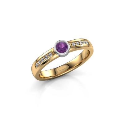 Engagement ring Ise 2 585 gold amethyst 3.7 mm