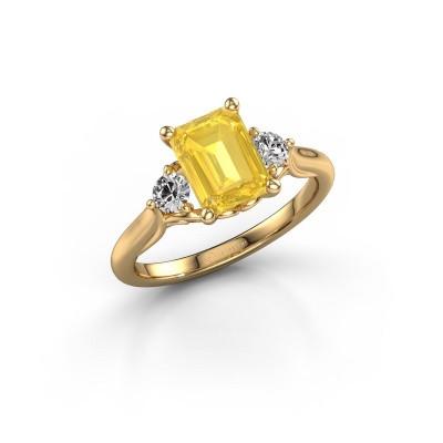 Foto van Verlovingsring Laurian EME 585 goud gele saffier 8x6 mm
