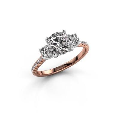 Foto van Verlovingsring Jesica 585 rosé goud diamant 1.68 crt