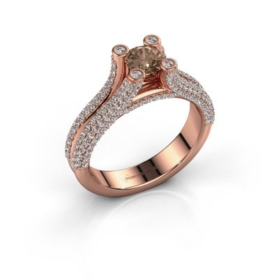 Verlobungsring Stefanie 2 375 Roségold Braun Diamant 1.50 crt