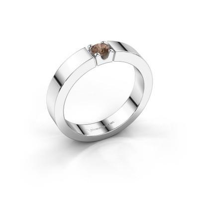 Foto van Belofte ring Dana 1 950 platina bruine diamant 0.20 crt