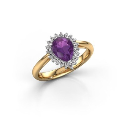 Engagement ring Tilly per 1 585 gold amethyst 8x6 mm