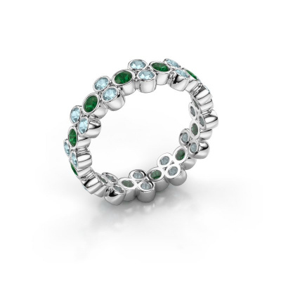 Ring Victoria 925 Silber Smaragd 2.4 mm