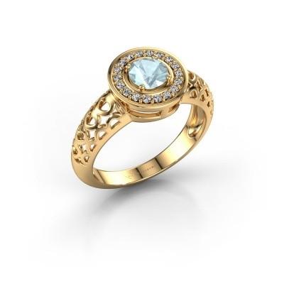 Foto van Ring Katalina 585 goud aquamarijn 5 mm