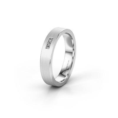 Wedding ring WH0106L14AM 950 platinum zirconia ±4x1.7 mm