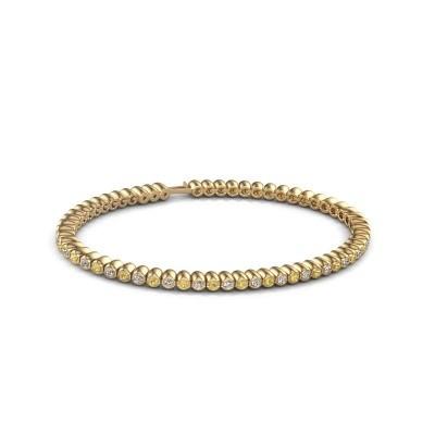 Picture of Tennis bracelet Trix 375 gold yellow sapphire 2 mm