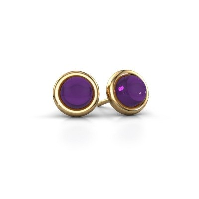 Picture of Stud earrings Jodi 585 gold amethyst 6 mm