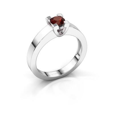 Promise ring Anne 1 925 zilver granaat 4.7 mm