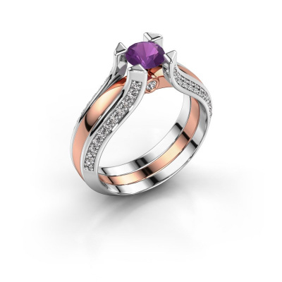 Engagement ring Nadine 585 rose gold amethyst 5 mm