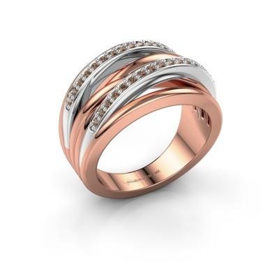 Foto van Ring Annabel 2 585 rosé goud bruine diamant 0.24 crt