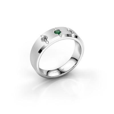 Foto van Heren ring Remco 375 witgoud smaragd 2.7 mm