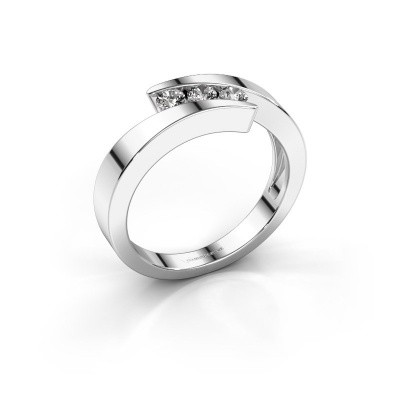 Photo de Bague Gracia 585 or blanc diamant synthétique 0.24 crt