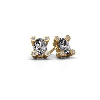 Foto van Oorstekers Cornelia Oval 585 goud diamant 0.80 crt