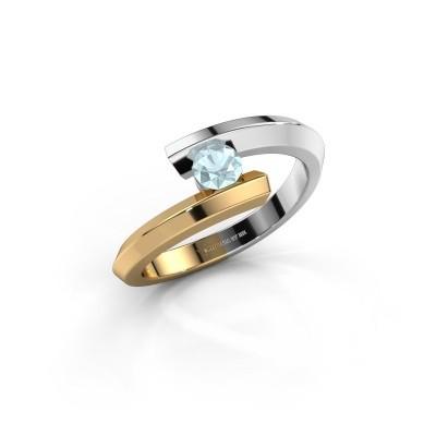Ring Paulette 585 white gold aquamarine 3.4 mm