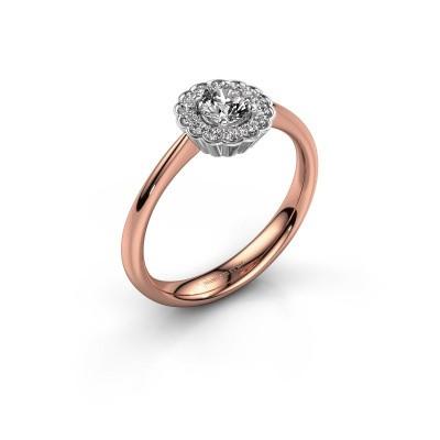 Verlovingsring Debi 585 rosé goud diamant 0.44 crt