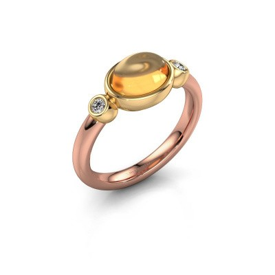 Ring Liane 585 rose gold citrin 8x6 mm