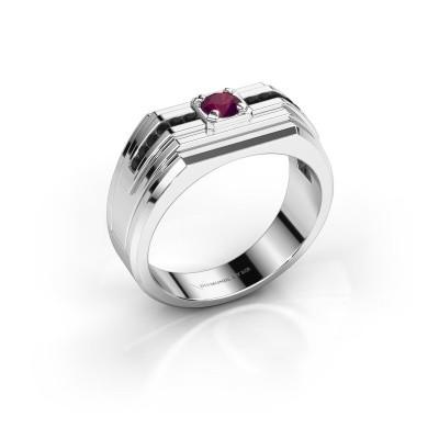 Foto van Heren ring Oliver 925 zilver rhodoliet 4 mm