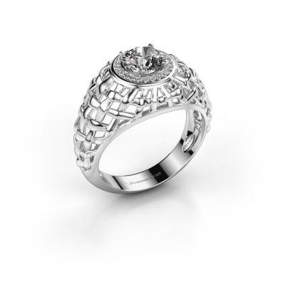 Foto van Pinkring Jens 585 witgoud diamant 1.12 crt