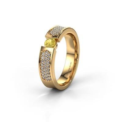 Trouwring WH2100L 375 goud gele saffier ±5x3 mm
