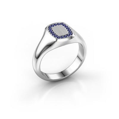 Men's ring Floris Cushion 1 950 platinum sapphire 1.2 mm