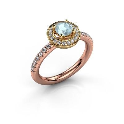 Picture of Ring Christine 585 rose gold aquamarine 5 mm