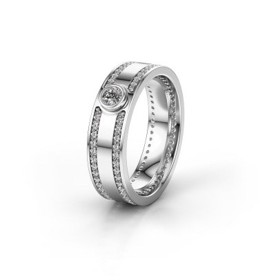 Trouwring WH2044P 585 witgoud diamant ±6x2 mm