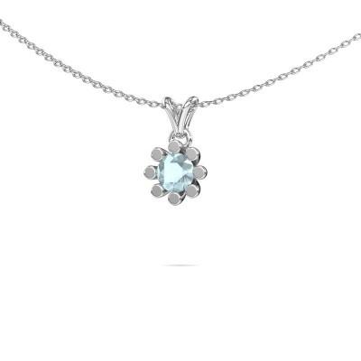 Picture of Pendant Carola 1 950 platinum aquamarine 5 mm