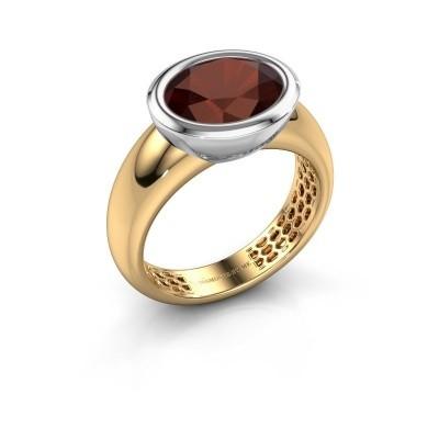 Ring Evelyne 585 goud granaat 10x8 mm