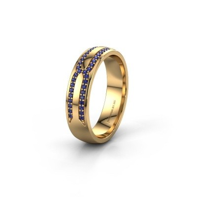 Wedding ring WH2212L25AP 375 gold sapphire ±0.20x0.07 in
