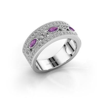 Ring Henna 925 zilver amethist 4x2 mm